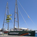 "Die ""Rainbow Warrior"" in Korfu"
