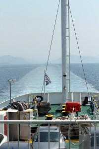 Fähre auf dem Weg nach Korfu