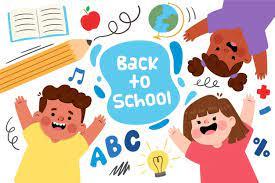 Glückliche kinder jubeln zurück zur schule | Kostenlose Vektor